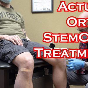 Stem Cell Injection Ortho Treatment Filmed and Explained